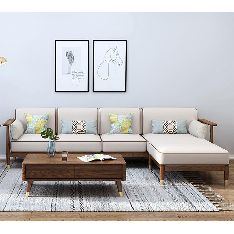 BOOMDEER morden custom new design living room Special OfferFabric one two three and four solild woodensofa with Prince lie