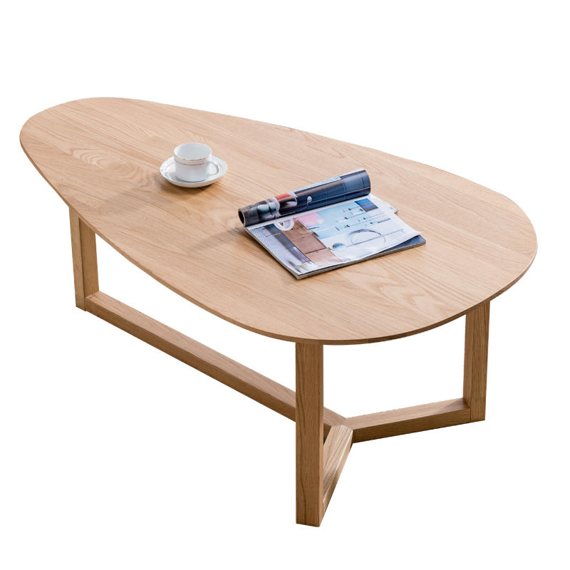 European Classical Style Living Room Furniture Simple Home Three Feet Round Wooden Side Coffee Table