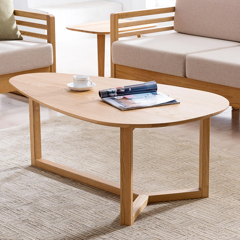 Home furniture classic design powder coated oak wood end table home goods coffee table for living room