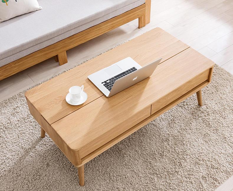 Custom wood Tea Table Living Room Furniture Set Modern Multifunction Height Adjust Lift Up Top Wood Coffee Table
