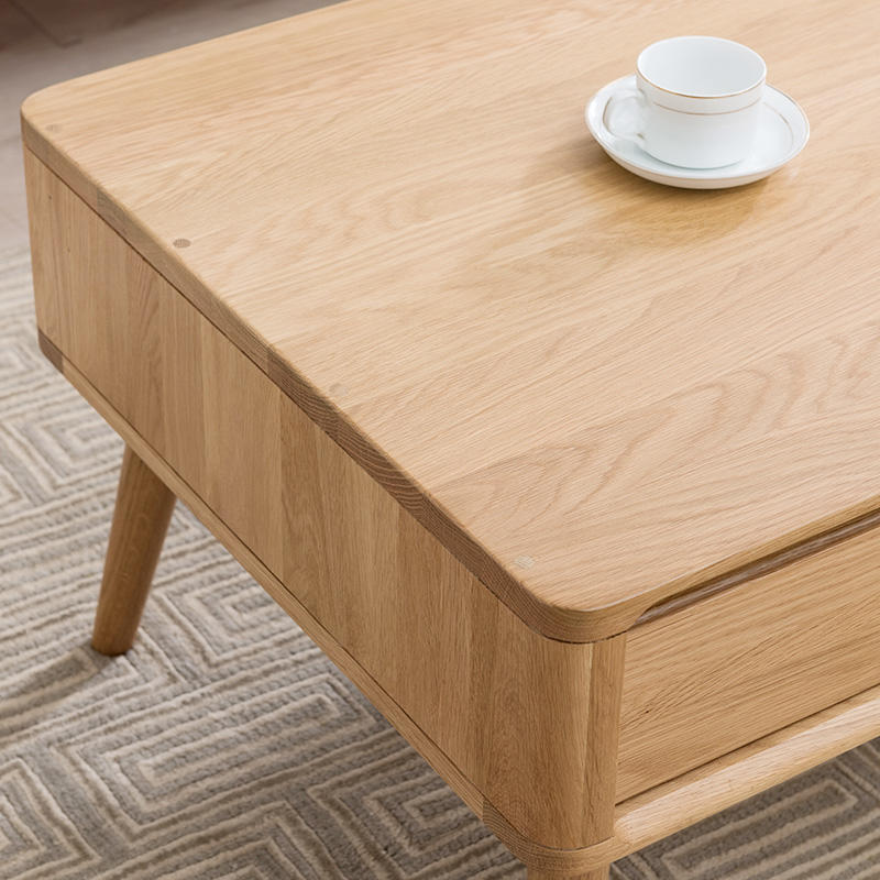 Solid Wood Oak Coffee Table Modern Design Iron Wood Dining Table Wooden Coffee Tables