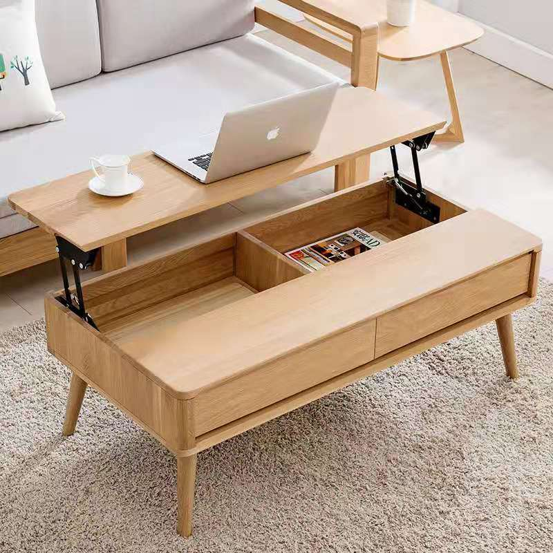 new style nature solid oak wood coffee table for livingroom furniture