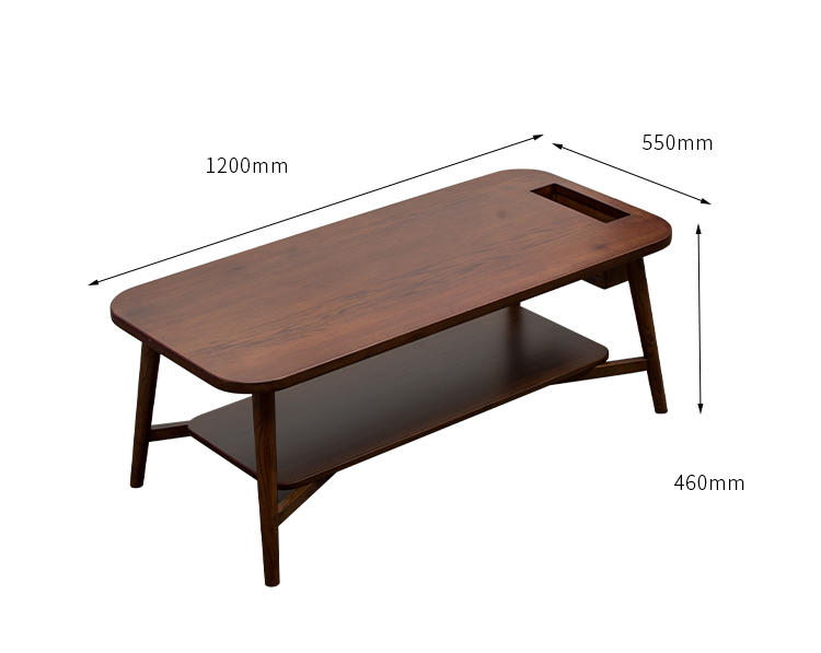 small apartment solid wood double living room tea table modern minimalist coffee table Nordic dining table