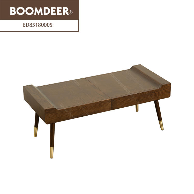 Nordic style solid wood low tea tablefolding chinese natural wood coffee table