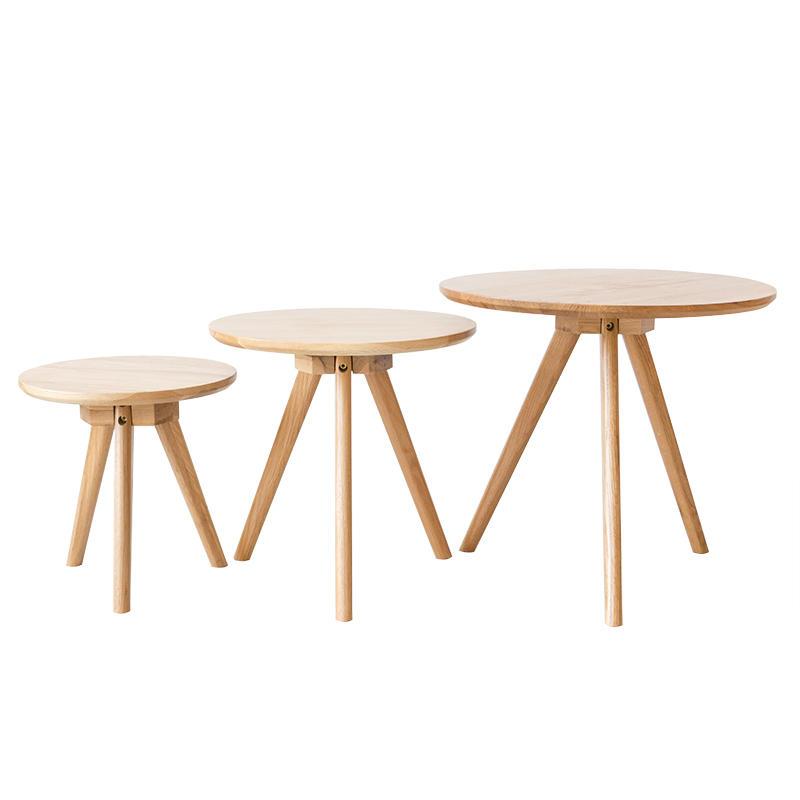 3 Set Simple Lounge Square Wood Room Nesting Pine Coffee Table