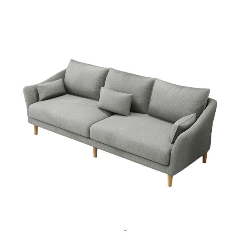 2020 simple design 1 2 3 seaters fabric sofas sectionals living room furniture wooden for living room
