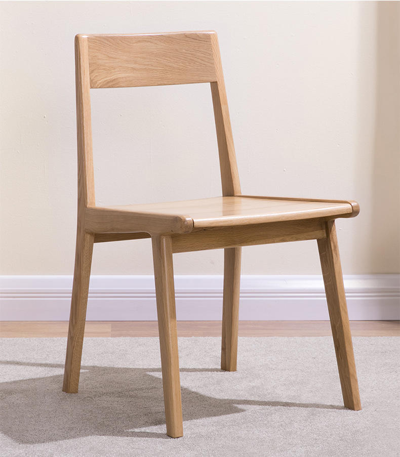 contemporary Hot Sale Best Quality home furniture simple design Cheaper Price Solid Wooden Dining Chair