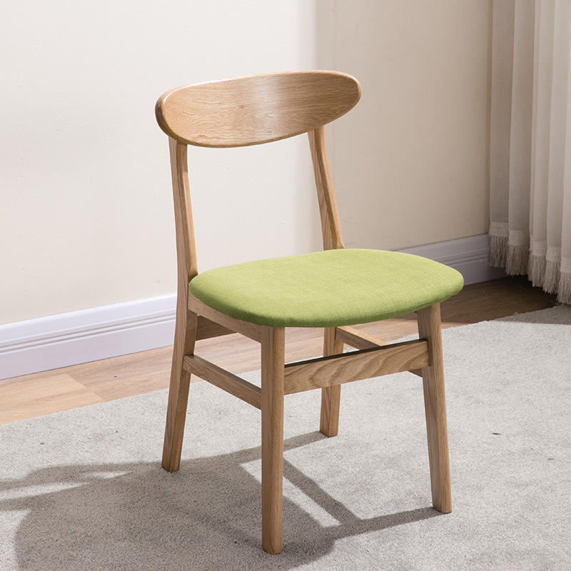 Factory Wholesale New top quality restaurant/coffee shop furniture Fabric Cushioned Solid Wood dining chair