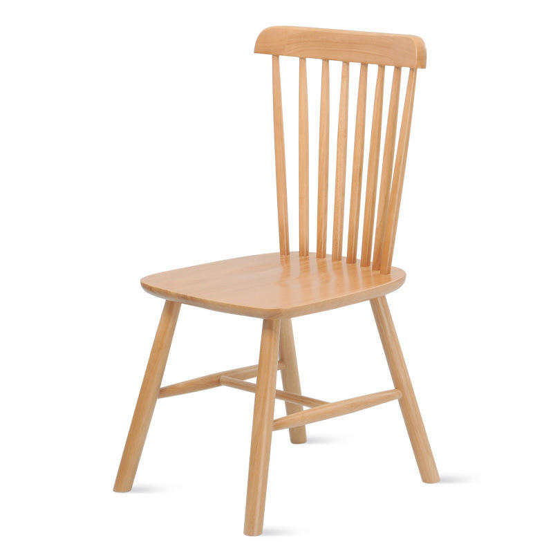 dining room furniture wooden chairs solid wood nordic fancy restaurant oak rubber wood low price chinese 6 chair dining set new