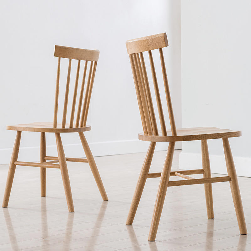 2020 modern design nordic high quality solid wood dining chair ningbo with wooden legs room furniture