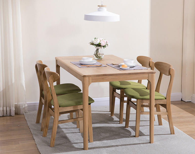 Factory price high quality durable useful solid wood dining chair sets restaurant