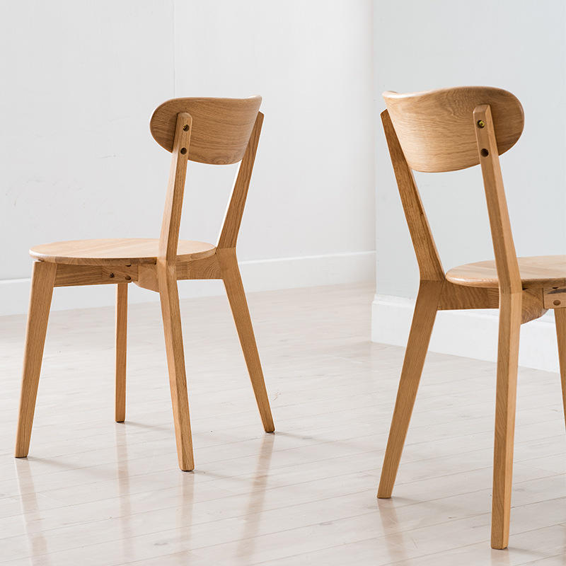 Factory direct sales hot sale good price useful novel modern simple stylish solid wood dining chair sets for table restaurant