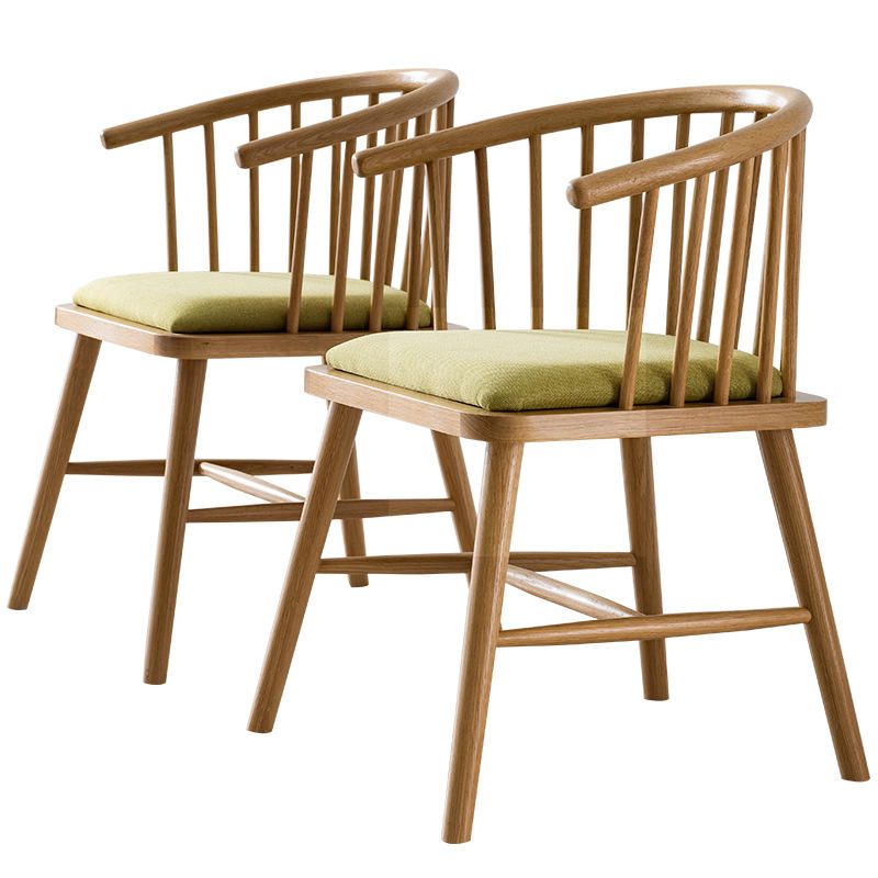 Home special offer environmental friendlynew design wood color white oak solid wood dining chair sets for table restaurant