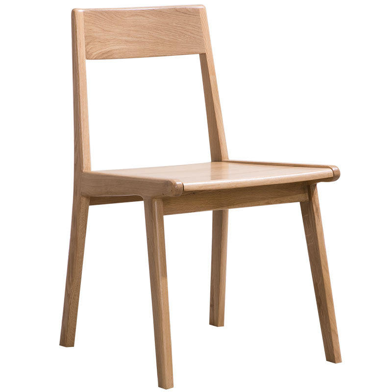Factory direct sales net red useful durable nordic white oak wood and walnut color solid wood dining chair for restaurant