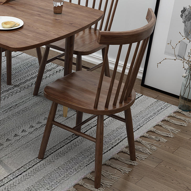 wood dining chair concave chair back dining chair solid woodmodern chairsfor dining room