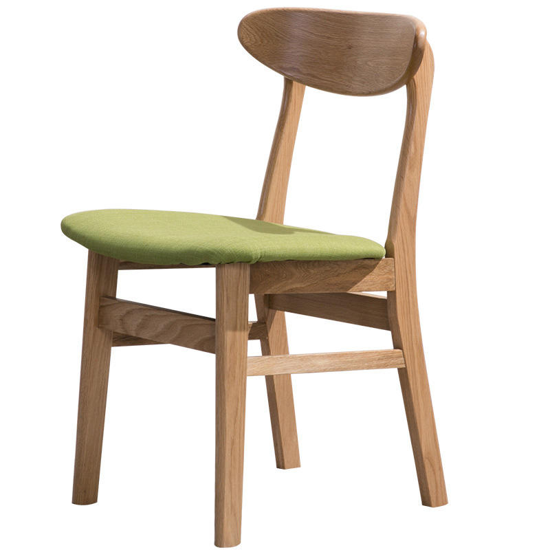 Nature wood dining chair modern wooden hole back dining chairsolid wood chairsfor dining room