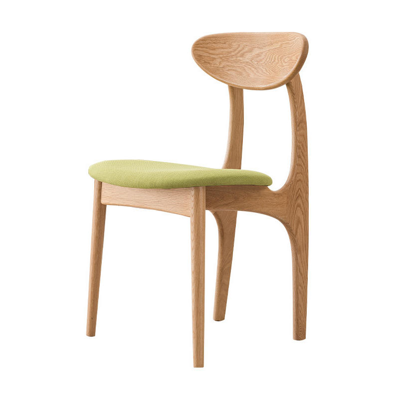 Modern dining chairs woodendining chair with fabric seat solid wood chairs for dining room