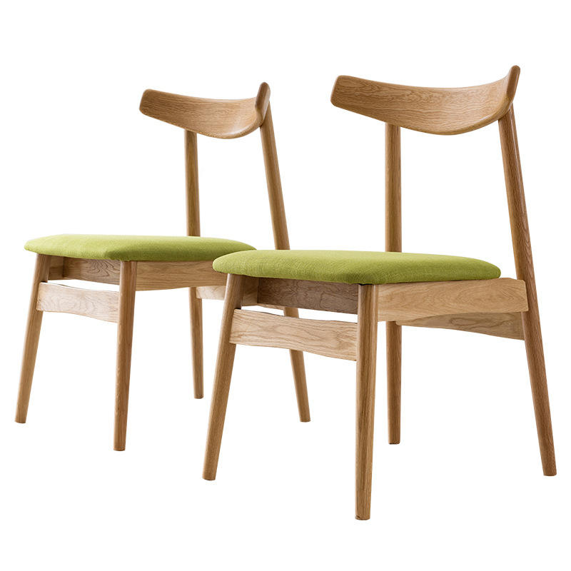 Hot selling modern dining chairs woodendining chair with fabric seat solid wood