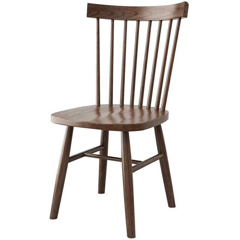 Morden custom Walnut color natural solid wooden dining chair set for dining room furniture
