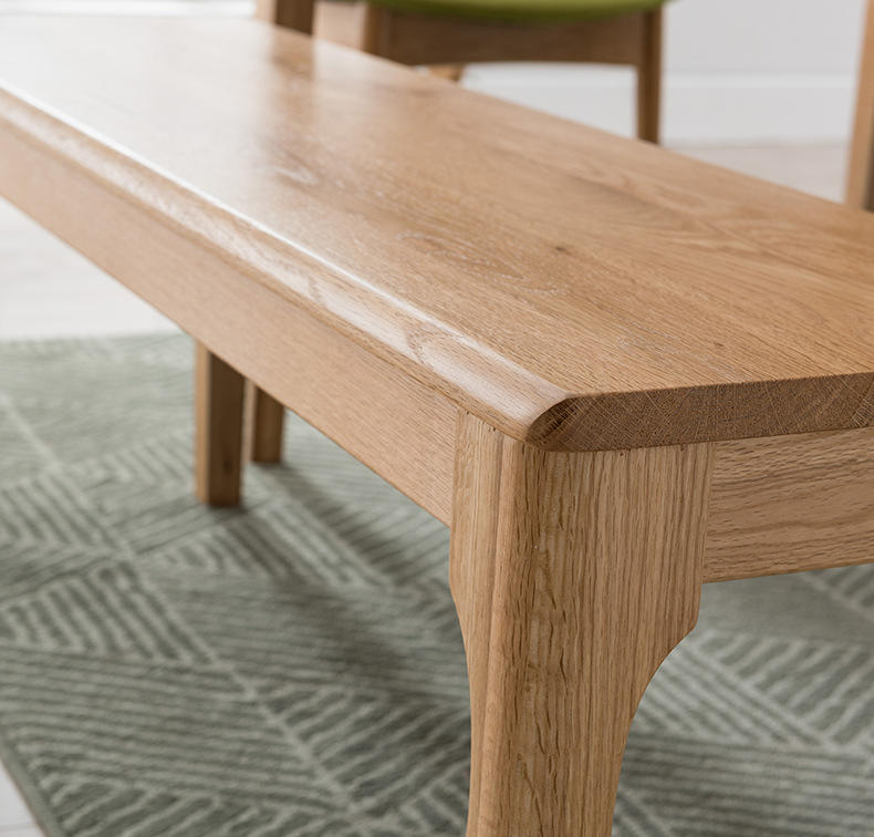 High quality industrial wooden dining bench modern wooden dining chair for restaurant 2 seater bench solid wood dining room