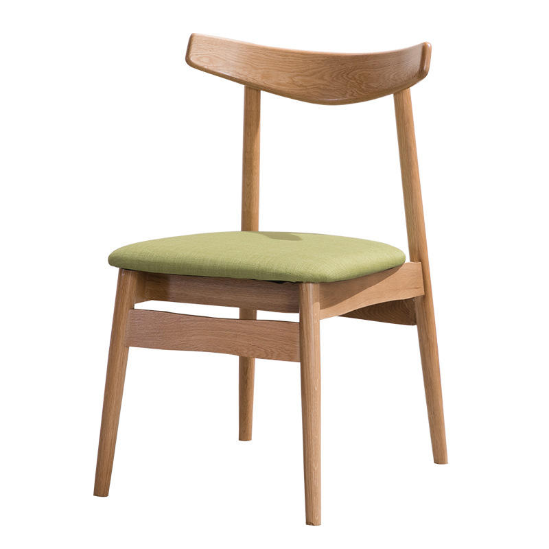 Modern design customizable natural solid wood practical wooden dining chair with fabric cover for dining room restaurant