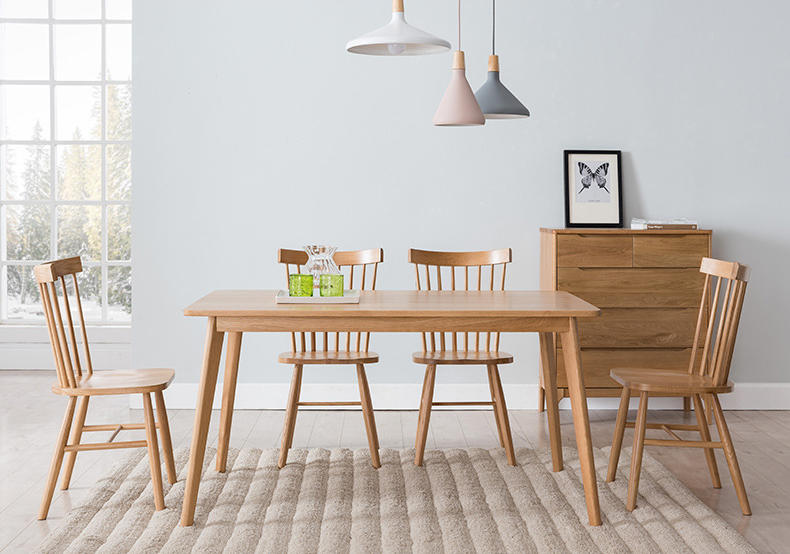 BOOMDEER classic two optional color simple natural solid wooden dining chair for dining room/ restaurant
