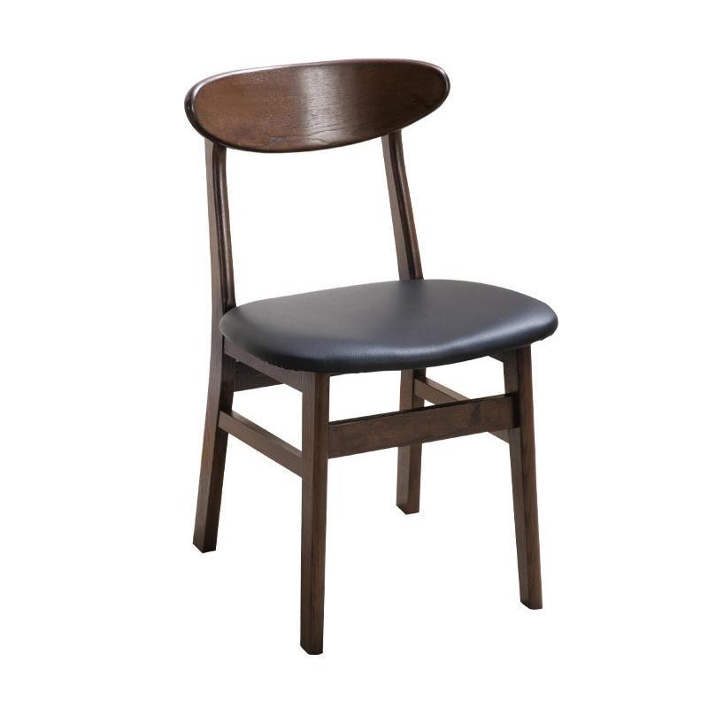 BOOMDEER new deign custom economy nordic morden dining soild wooden comfortable chair set dining room by using white ash