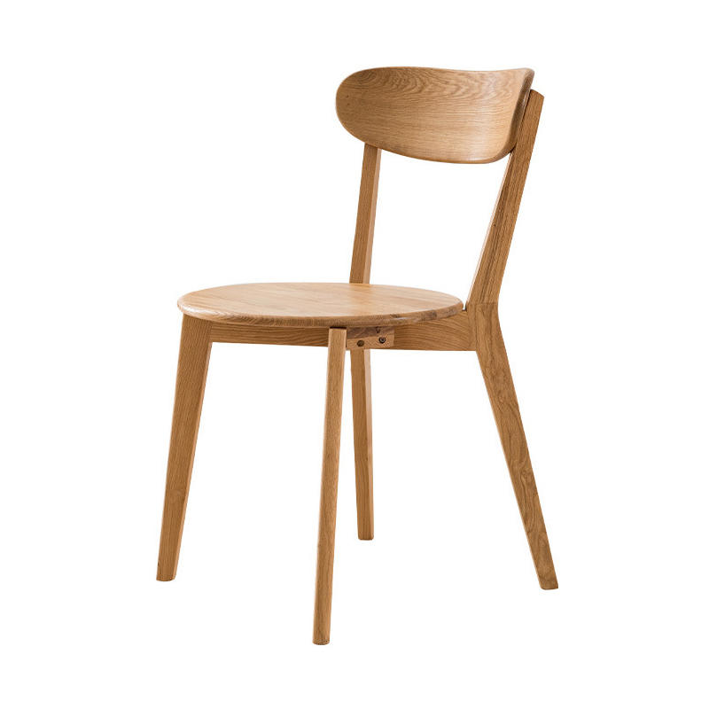 BOOMDEER custom design cheapnordic natural wood color dining soild wooden comfortable chair set dining room by using white oak