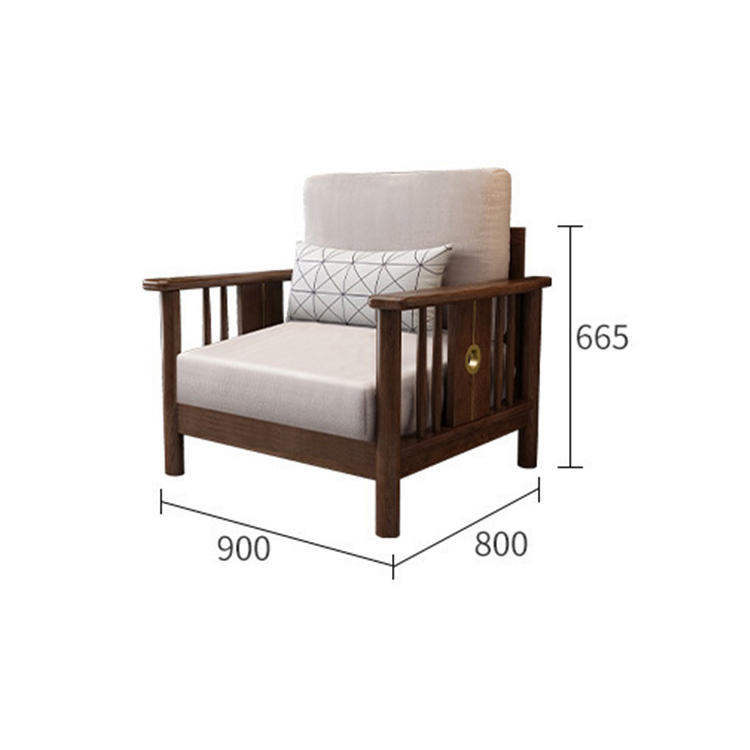 Frame Wooden Base Bed Exposed Antique Single Classic Fabric Modern Simple Nordic Leisure Fully Sets European Wood Sofa