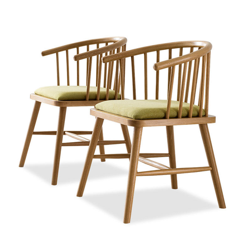 Solid Wood Livingroom Furniture European Style Wooden Dining Chair Sitting Set