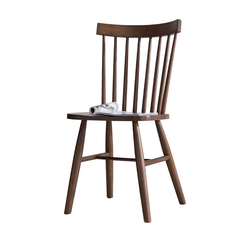 High Quality Antique Wooden Solid Wood Back Dining Room Chair Furniture Set