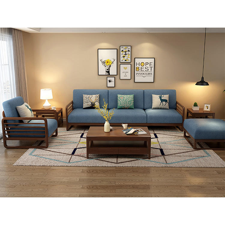 living room wooden sofa leisure affordable 2 colors fabric modern cheap set 3 2 1 chaise couch nordic relaxing sofa chair unique