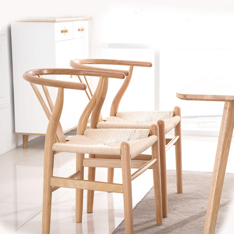 Boomdeer Luxury french style restaurant wooden rattan dining chair in wooden for dining room