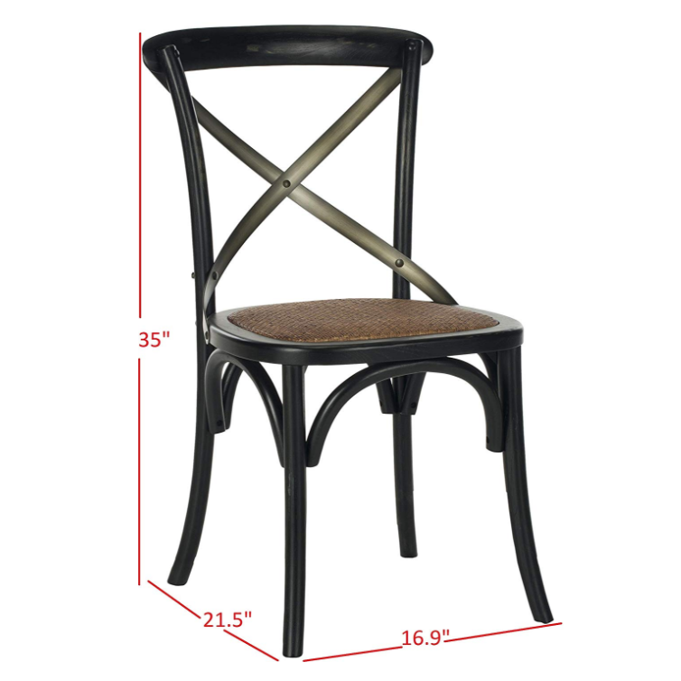 Natural solid Wood high back X cross back oak dinning chair solid wood chair