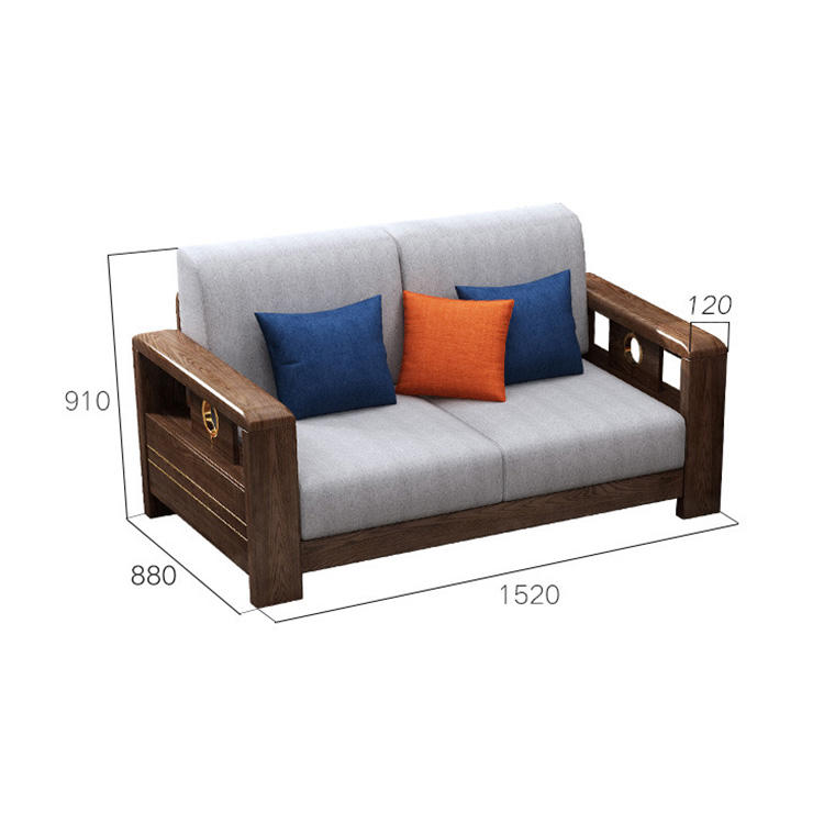 Living Room Furniture Set Wooden Corner Design Designs Sofas, Sets Tray Chairs Sofas 2 Seater Solid Wood Sofa