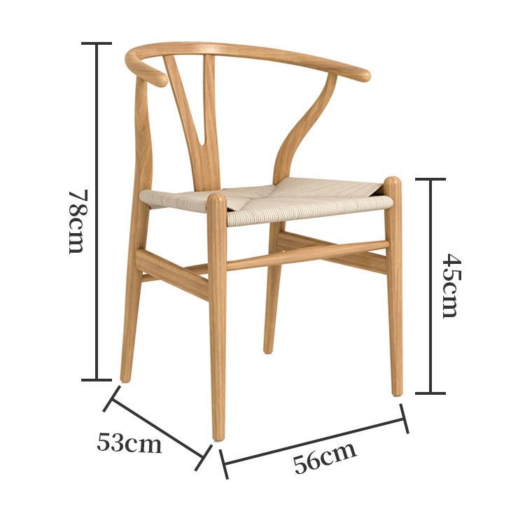 Hans Wegner Walnut Dining Black Oak Natural Color Wishbone Chair
