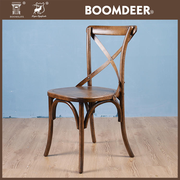 Cross Back Chair Dining Chair Specific Use and Wooden Material Dinning Chair
