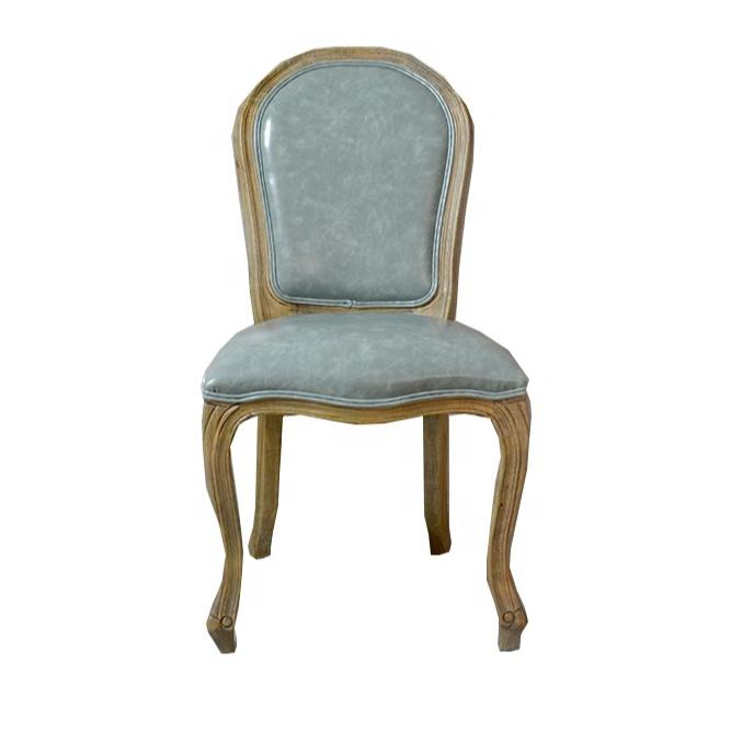 Comfortable Modern High Backdining chair oak wood vintage old American dining chair hotel coffee chairin restaurant
