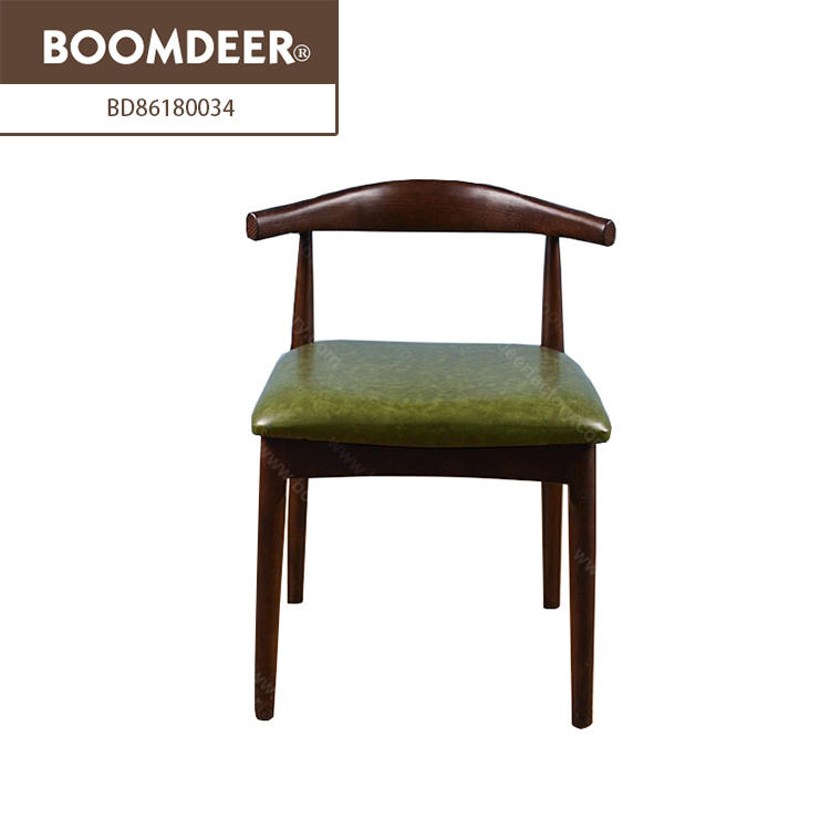 Boomdeer hot selling classic coffee leather wooden chair furniture sofa solid wood sofa set designs