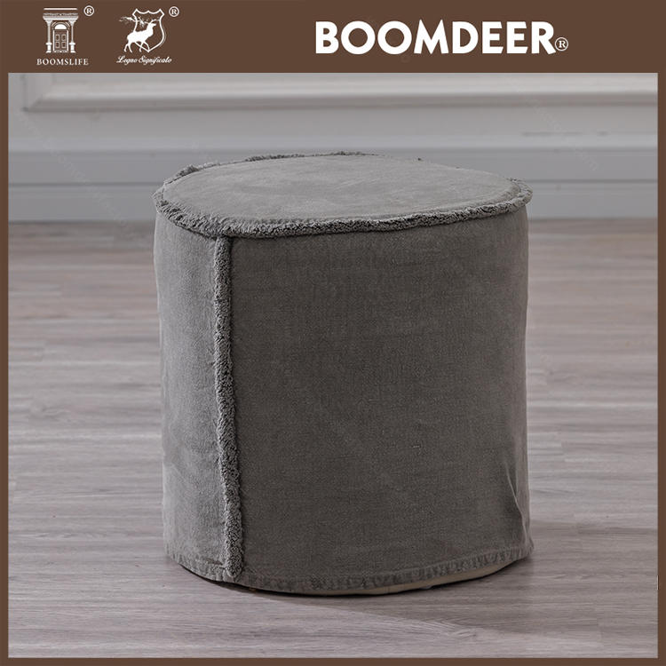 Modern Bar Bench Ottoman Cafe Footrest Reclaimed Wood Grey Nordic Wooden Seat French Low Garden Stools Set