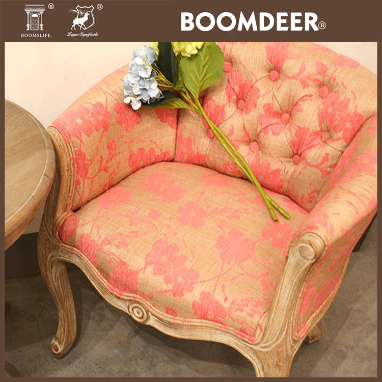 Hot antique selling round leather sofa living room sofa sofa solid wood