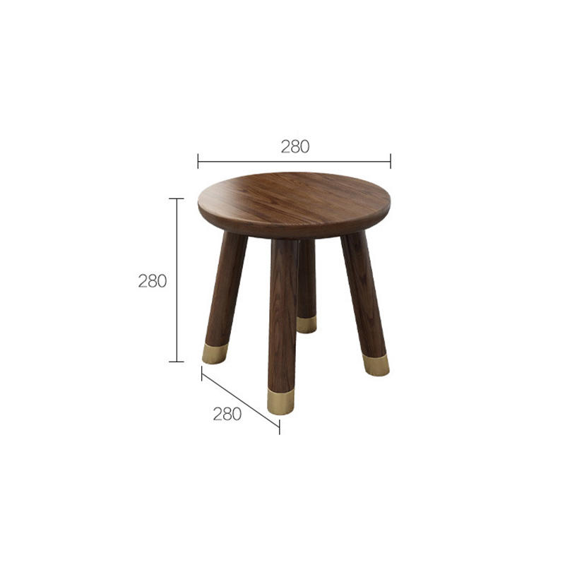 2020 new living room solid wood round stools home furniture valurable high end elegant low price comfort moq 1 indoor four legs