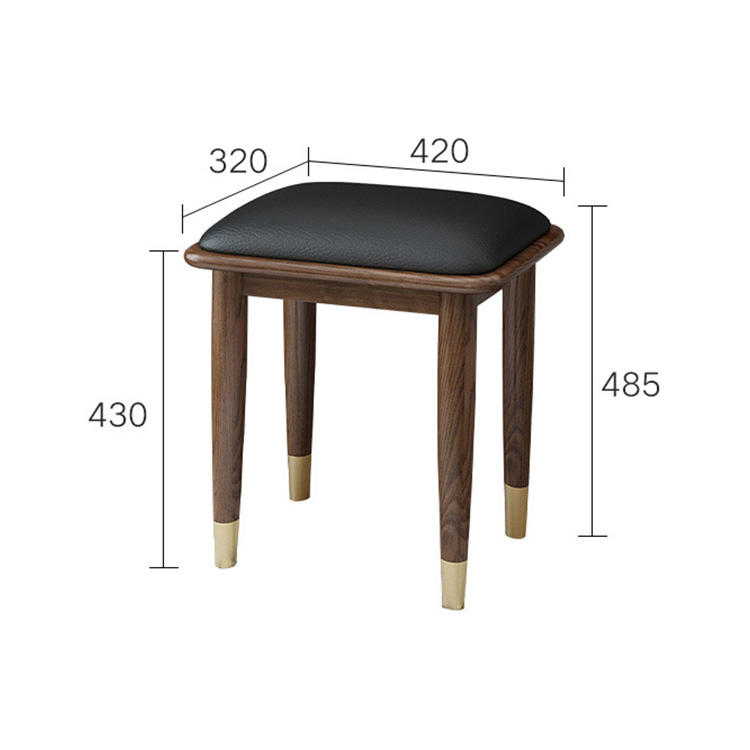 Factory direct price wholesale retail high quality popular solid wood dressing stool
