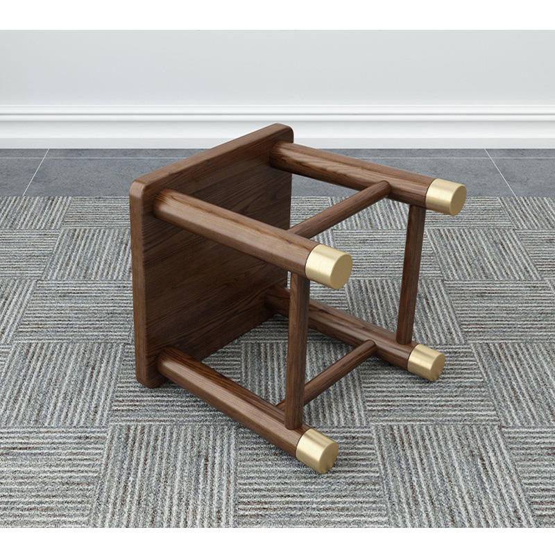 solid wood square stool with copper footNordicwoodendining chair solid woodchairs