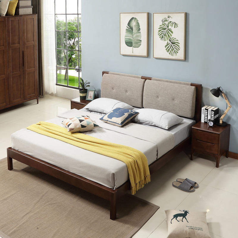 China factory direct deal space saving bed room furniture soild wooden furniture sleeping beds for sale