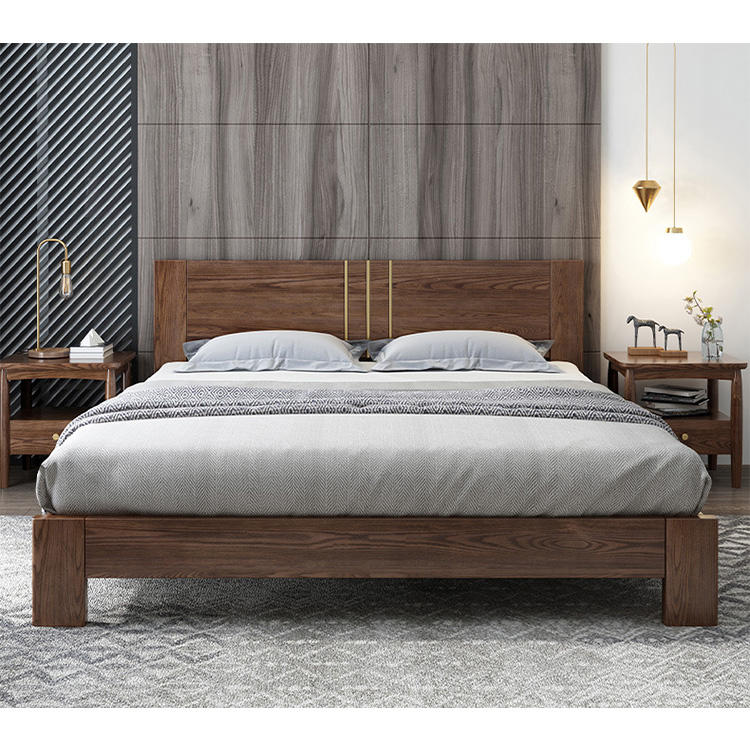 nordic european individual 180x200 150x200 high quality morden design wood bed for adult bedroom furniture