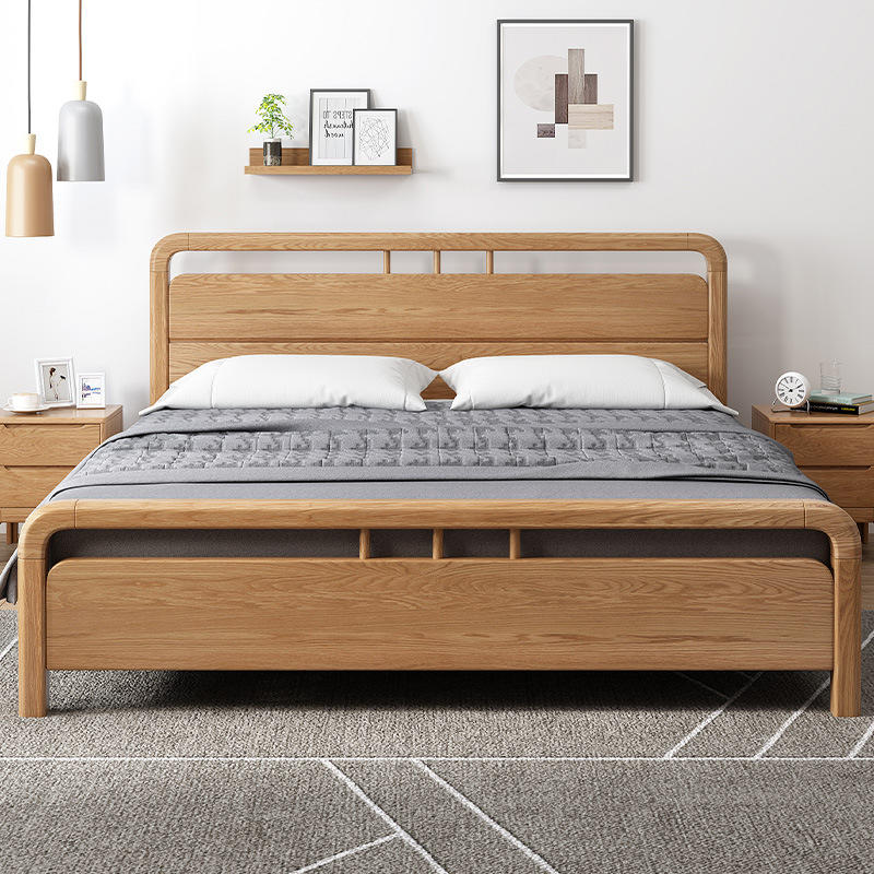 2020 hot selling high quality multifunctional simple designs low price full bedroom set with a wooden beds