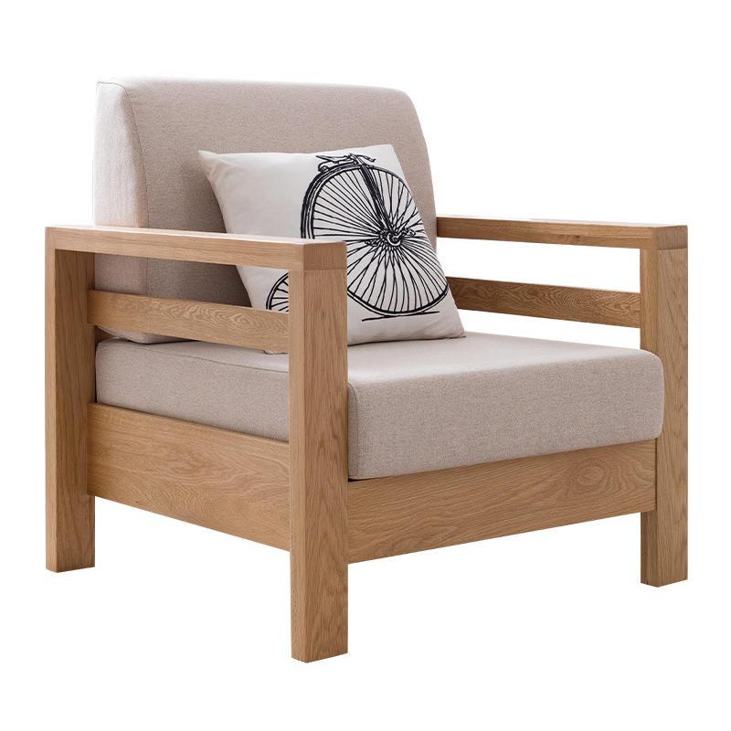 ModernWooden FurnitureL-Shaped LivingroomLinen Fabric Sectional Sofa