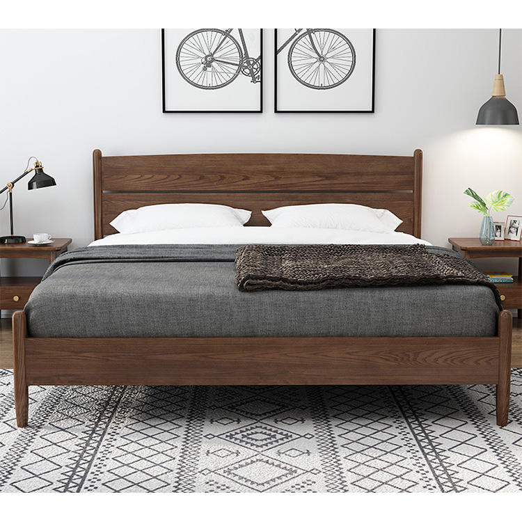 2020 luxurious wood full size bed designs multifunctional elegant Upscale soild wood beds manufacturer