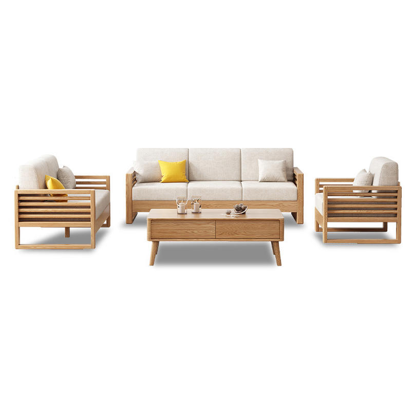 living room furniture modern style linen fabric luxury sectional sofa
